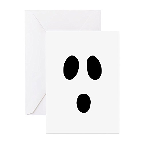 CafePress - Boo Face Greeting Cards - Greeting Card (20-pack), Note Card with Blank Inside, Birthday Card (Pack Of Cards Costume)