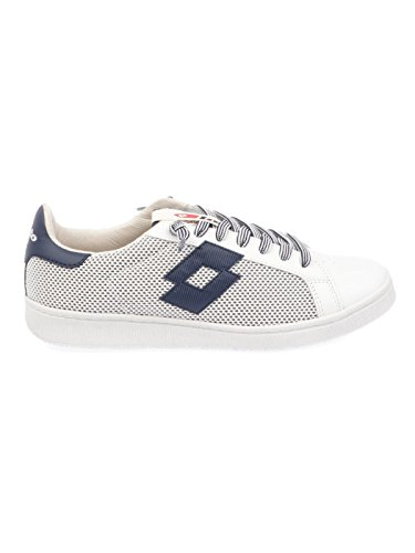 Blanc Homme Cuir Baskets T4556WHITE Lotto np6qwxWp