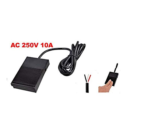 Yohii TFS-1 AC 250V 10A SPDT NO NC Antislip Momentary Electric Power Foot Pedal Switch Footswitch