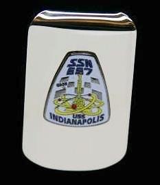 Silver USS Indianapolis SSN 697 Money Clip