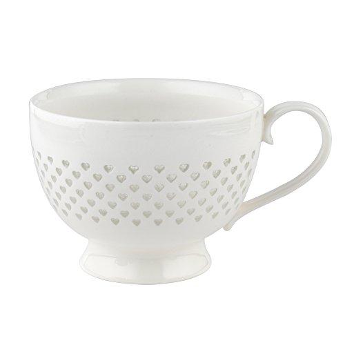 Cambridge CM05187 Lace Polka Hearts Porcelain China Mug