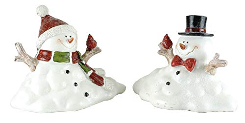 Gerson Melting Snowman Holiday Figurines - Set of -