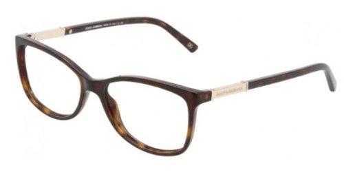Dolce & Gabbana Women's DG3107 Eyeglasses Havana - Frames Gabbana Women Dolce And
