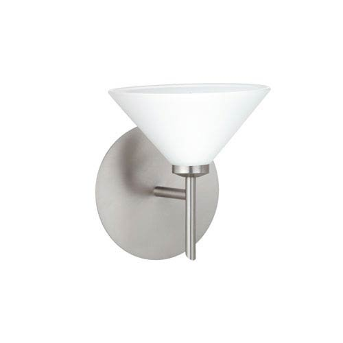 Kona Interior-Only Wall Sconce Finish: Satin Nickel, Shade Color: Opal ()