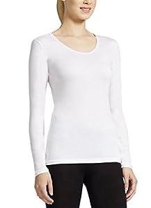 Weatherproof Women's Long Sleeve Scoop Neck (Small, White)
