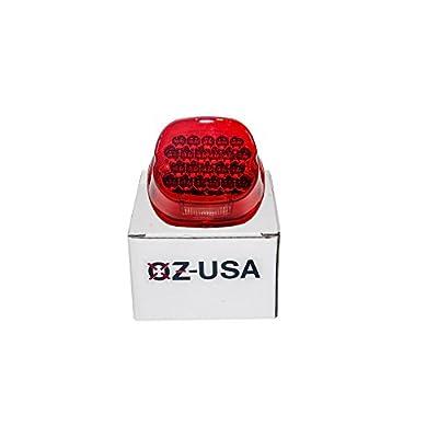 FL Red OZ-USA LED Tail Brake Light Harley Touring Electra FLTR Road King Glide FLHTCU I: Automotive