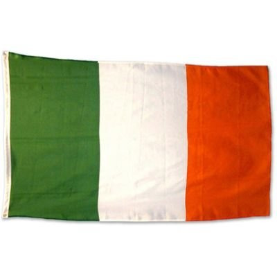irish tri colour flag 5ft x 3 ft - polyester. by iAuctionShop