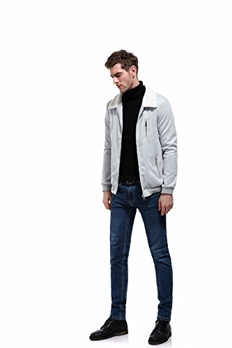 Streetwear Solid Sleeve Cardigan Cotton Quality Anglewolf Zipper Workwear Men's Mens Jacket Softstyle Down Collar Coat Fashion Solid Turn Tops New High Long Gray Outwear Casual xqRB0qI