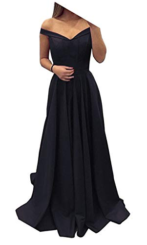 Dressylady 2017 Burgundy Off-Shoulder A Line Long Prom Homecoming Dress Evening Gowns(2)