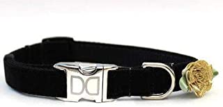 product image for A Formal Affair Velvet Custom Dog Collar (Optional Matching Leash Available) XS/S