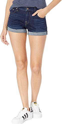 7 For All Mankind Women's Roll Up Shorts in Serrano Night Serrano Night 24 2 ()
