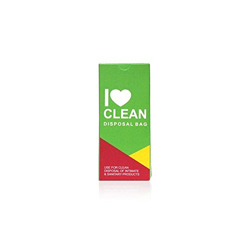 HealthAndYoga(TM) Hygienic Disposal Bags for Intimate Products|Easy, Non-Tie, Press- Seal Mechanism |Bio-Degradable |15 Bags in a Pack (Single Pack) (Seal Press Pack)