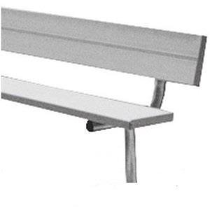 Permanent Bench w Back and Ribbed No-Slip Surface from Athletic Connection