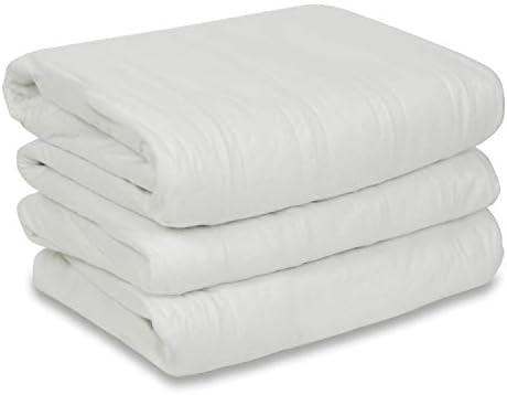 Sunbeam Heated Mattress Pad | Polyester, 10 Heat Settings , White , Queen - MSU1GQS-N000-11A00