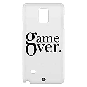 Loud Universe Samsung Galaxy Note 4 3D Wrap Around Game Over Print Cover - White