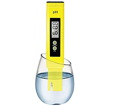 Digital PH Meter Water Quality Tester 0.01 Accuracy Measurement Range 0-14PH Automatic Temperature Compensation (ATC) Drinking Water Hydroponics Spa Aquarium RO System?Navy Blue?