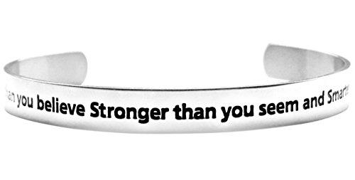 Braver Believe Stronger Inspirational Bracelet product image