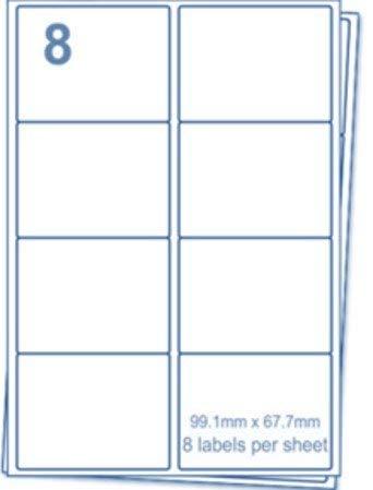 🌟 Etiquetas EJRange 8 por hoja A4, 100 hojas Etiquetas 800 Etiquetas de impresora de envío de direcciones autoadhesivas totales - Compatible con ...