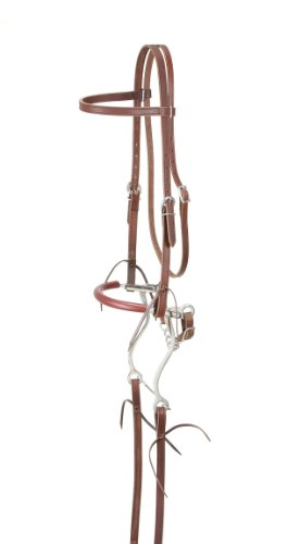 Tough 1 King Series Browband Bridle with Hackamore, Medium Tan (Hackamore Bit)