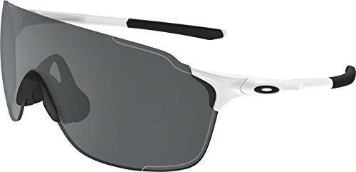 Oakley Men's Evzero Stride (a) Non-Polarized Iridium Rectangular Sunglasses, Polished White, 38 - Small Fit Oakley Sunglasses