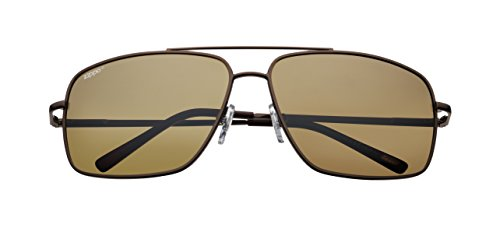 Medium Polarized Mirror Zippo Gafas Brown Flash Lens de Marrón marrón Sol Unisex wqdvdOxTF