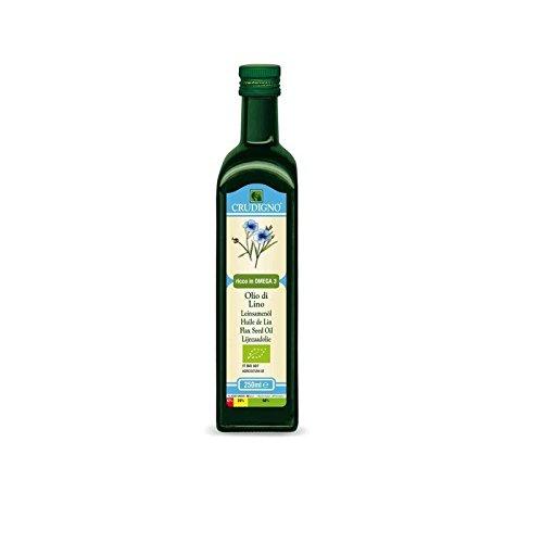Crudigno Organic Flax Seed Oil 250ml - Pack of 6 by Crudigno