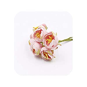 END GAME 30 Pieces 3 cm Flower Buds Big Rose Buds Artificial Flower Bouquet Bride Brooch Decoration 37