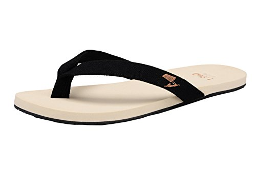 Sling Sandal Flop Beach Men's Canvas Black DQQ Flip zwYPR