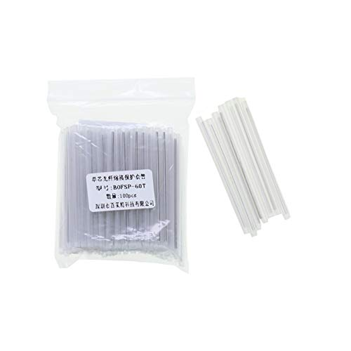 - Vranky 60mm Clear PE Heat Shrinkable Tube,Fiber Optical Cable Fusion Splice Protection Sleeve, 100pcs/set Dia 2.6mm