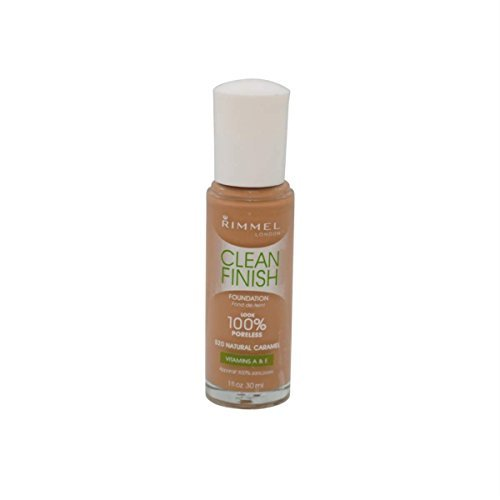Rimmel Clean Finish 100% Poreless Foundation 30ml-520 Natural Caramel (Caramel Medium Finish)
