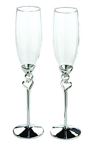 Lillian Rose Toasting Glasses (Lillian Rose Silver Heart Wedding Toasting Glasses Table Decor)
