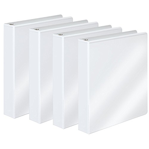 "Wilson Jones Round Ring View Binder Kit, Tab Dividers, 1"", White, 4 Pack (W362-14WKIT1)"