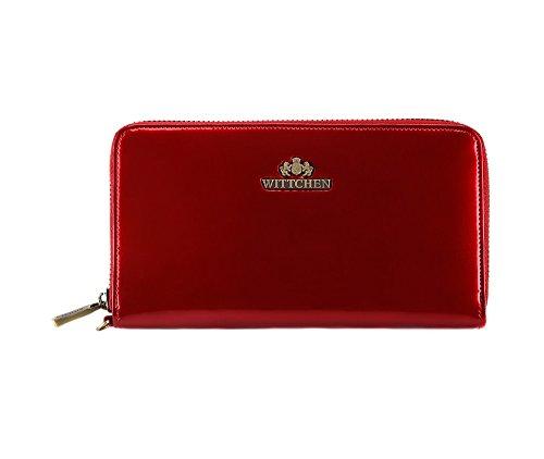 Projeté En 485 Femme 1 Chic Portefeuille Rouge Plusieurs Haute Style Italie Qualité Élégance Wittchen Luxe Poches 25 17gWPU7n