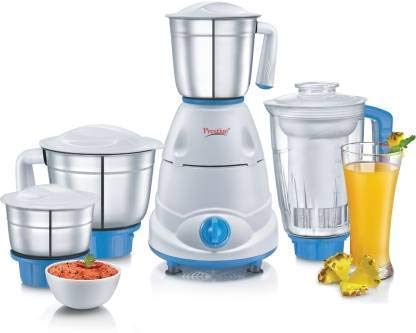 Renewed  Prestige Atlas Plus 750 W Juicer Mixer Grinder  Blue, White, 4 Jars  Mixer Grinders