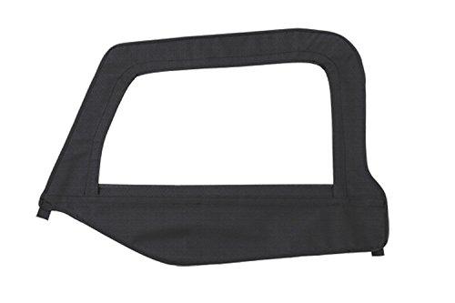 Smittybilt Door Skin (Smittybilt 79435 Black Diamond Driver Side OEM Replacement Soft Top Door Skin with)