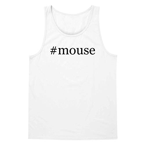 #Mouse - A Soft & Comfortable Hashtag Men's Tank Top, White, Small