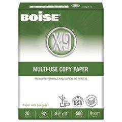 Boise X-9 Copy Paper, 92 Brightness, 20Lb, 8-1/2 X11, White, 2500 Sheets/Carton