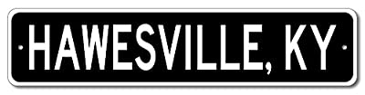 Custom Aluminum Sign HAWESVILLE, KENTUCKY US City and State Name Sign