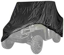 up-113 Inch UV Resistant Heavy Duty Weather Protection by Toiles VR UTV Waterproof Black Cover