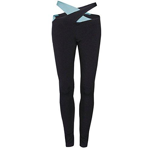 Iumer Women's Activewear Yoga Pants High Rise Workout Gym Tights leggings Blue