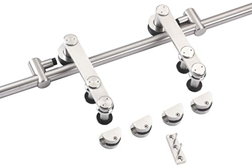 EaseLife 6 FT Stainless Steel Sliding Barn Door Hardware Track Kit - Heavy Duty - Anti-Rust Anti-Corrasion - Slide Smooth Quiet - Easy Install- Fit 30''~36'' Wide Door - 6FT Track Single Door Kit by EaseLife (Image #4)