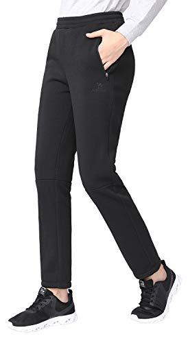 CAMEL Sweatpants Women Fleece Pants Jogger – Lounge Pants Women Jersey Pull-on Trousers Drawstring Pants with Zipped…