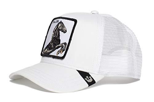 Goorin Bros. Mens 'Stallion' Horse Trucker Snapback Trucker Baseball Hat White