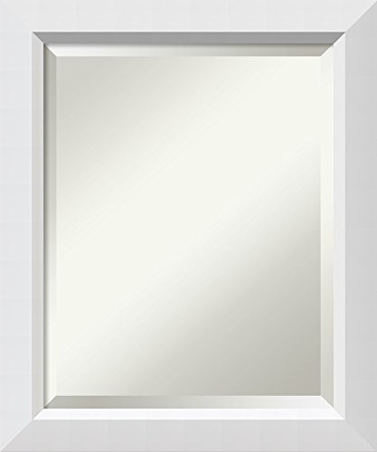 Solid Wood Frame Mirror - Framed Vanity Mirror | Bathroom Mirrors for Wall | Blanco White Mirror Frame | Solid Wood Mirror | Small Mirror | 24.00 x 20.00