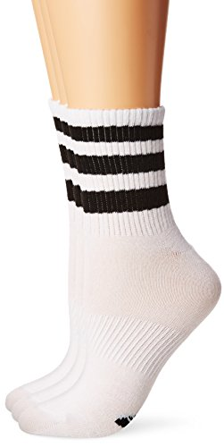 adidas Women's Originals Superlite 3-Pack Quarter Socks, White/Black, Medium Adidas Womens Original Stripe