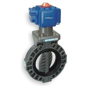 "Hayward PCSBY1152EA9 BY Series PVC Butterfly Valve, Pneumatic Actuated, EPDM Seat, 2"" from Hayward"