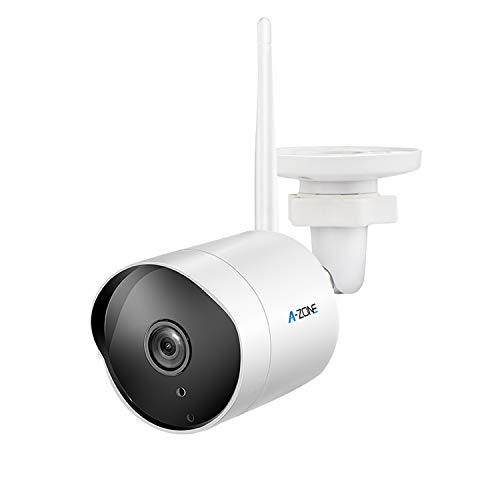 Outdoor Security Camera – HD 1080P 2.4G WiFi Camera 50ft Night Vision IP66 Home Surveillance IP Camera Two-Way Audio, Motion Detect Alarm/Record, Support Max.128GB Class10 Micro SD Card(1 Pack, White)