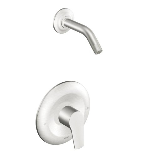 Moen T2802NHBN Method Single Handle PosiTemp Pressure Balanced Shower Trim, Brushed Nickel - Control Trim Set