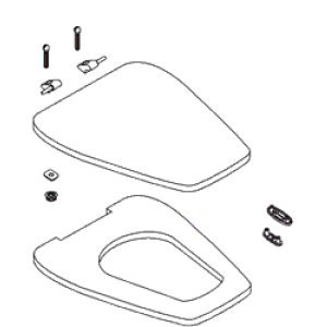 Kohler K-1014072 Replacement Toilet Seat with Cover, Thunder Grey ...