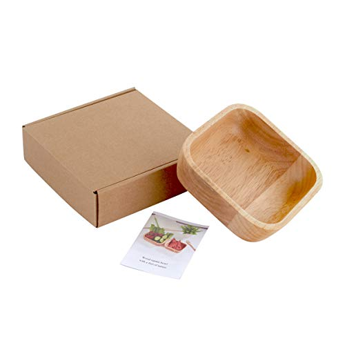 Wooden Salad Bowl,Pasta,Fruit,Dessert,Cereal,Snack Bowl,Decoration,Gift 5.9